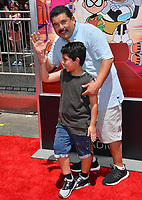 "Guillermo Rodriguez & Benji Rodriguez at the premiere for ""Teen Titans Go! to the Movies"" at the TCL Chinese Theatre, Los Angeles, USA 22 July 2018<br /> Picture: Paul Smith/Featureflash/SilverHub 0208 004 5359 sales@silverhubmedia.com"
