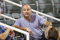 Former NASCAR crew chief Slugger Labbe takes in the South Atlantic League game between the Hagerstown Suns and the Kannapolis Intimidators at Kannapolis Intimidators Stadium on August 26, 2019 in Kannapolis, North Carolina. The Suns defeated the Intimidators 4-1. (Brian Westerholt/Four Seam Images)