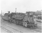 Engineer side view of K-36 #480 at Alamosa.<br /> D&amp;RGW