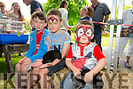 Sean and Connor Mccannon and William Leahy  enjoying  the Pet farm at the  Feile na mBlath Park Festival in Tralee Town Park  on Saturday