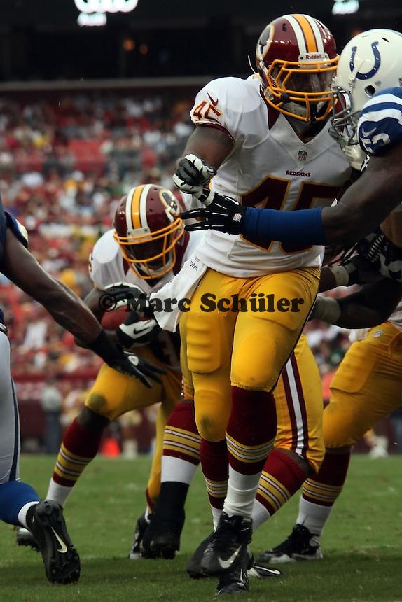 RB Alfred Morris (Redskins) hinter FB Dorson Bryce