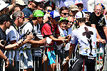 Michal Kwiatkowski (POL) Team Sky with fans at sign on before the start of Stage 4 of the 2018 Tour de France running 195km from La Baule to Sarzeau, France. 10th July 2018. <br /> Picture: ASO/Alex Broadway | Cyclefile<br /> All photos usage must carry mandatory copyright credit (&copy; Cyclefile | ASO/Alex Broadway)