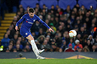Jorginho of Chelsea kicks the ball upfield during Chelsea vs Dynamo Kiev, UEFA Europa League Football at Stamford Bridge on 7th March 2019