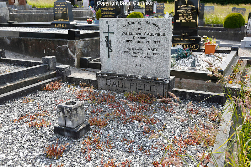 The grave of Valentine Caulfield behind Saint Patrick's Church in Granlahan, County Roscommon, Ireland on Tuesday, June 25th 2013. (Photo by Brian Garfinkel)