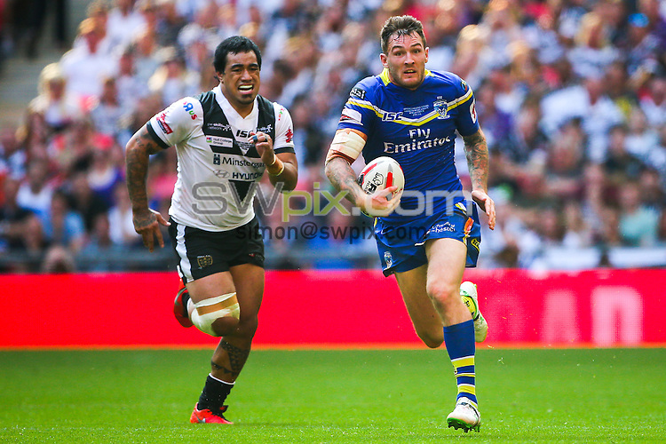 Picture by Alex Whitehead/SWpix.com - 27/08/2016 - Rugby League - Ladbrokes Challenge Cup Final - Hull FC v Warrington Wolves - Wembley Stadium, London, England - Warrington's Daryl Clark.