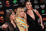 Actresses Mona Martinez, Natalia de Molina and Pilar Gomez attend the Candidates to Goya Cinema Awards party at Florida Retiro on December 16, 2019 in Madrid, Spain.(ALTERPHOTOS/ItahisaHernandez)