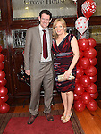 Colm Carkey and Aisling Byrne pictured at the Valentine Ball in the Grove House Dunleer. Photo:Colin Bell/pressphotos.ie