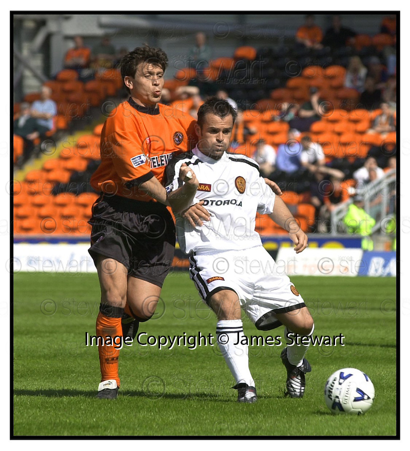 13th May 2000               Copyright Pic : James Stewart .Ref :                           .File Name : stewart07-dundee utd v mwell                        .JOHN SPENCER HOLDS OFF JAN TELESNIKOV.....Payments to :-.James Stewart Photo Agency, Stewart House, Stewart Road, Falkirk. FK2 7AS      Vat Reg No. 607 6932 25.Office : +44 (0) 1324 630007        Mobile : 07721 416997.Fax     : +44 (0) 1324 630007.E-mail : jim@jspa.co.uk.If you require further information then contact Jim Stewart on any of the numbers above.........