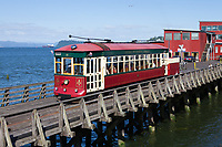Astoria Riverfront Trolley, Astoria, Oregon, USA.