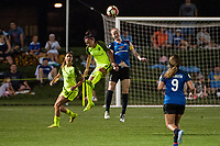 Kansas City, MO - Saturday June 17, 2017: Nahomi Kawasumi, Becky Sauerbrunn during a regular season National Women's Soccer League (NWSL) match between FC Kansas City and the Seattle Reign FC at Children's Mercy Victory Field.