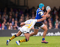 Bath Rugby's Zach Mercer in action during todays match<br /> <br /> Photographer Bob Bradford/CameraSport<br /> <br /> Premiership Rugby Cup - Bath Rugby v Wasps - Sunday 5th May 2019 - The Recreation Ground - Bath<br /> <br /> World Copyright © 2018 CameraSport. All rights reserved. 43 Linden Ave. Countesthorpe. Leicester. England. LE8 5PG - Tel: +44 (0) 116 277 4147 - admin@camerasport.com - www.camerasport.com