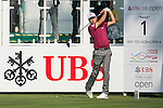 Daniel Brooks of England tees off the first hole during the 58th UBS Hong Kong Golf Open as part of the European Tour on 08 December 2016, at the Hong Kong Golf Club, Fanling, Hong Kong, China. Photo by Marcio Rodrigo Machado / Power Sport Images