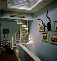 On the second floor gallery a set of kudu horns and vintage black and white photographs have been used to decorate the walls
