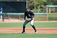 Chicago White Sox shortstop Luis Curbelo (21) during an Instructional League game against the Kansas City Royals at Camelback Ranch on September 25, 2018 in Glendale, Arizona. (Zachary Lucy/Four Seam Images)