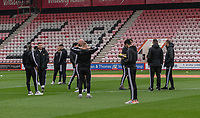 Wolverhampton Wanderers players inspecting the pitch<br /> <br /> Photographer David Horton/CameraSport<br /> <br /> The Premier League - Bournemouth v Wolverhampton Wanderers - Saturday 23rd November 2019 - Vitality Stadium - Bournemouth<br /> <br /> World Copyright © 2019 CameraSport. All rights reserved. 43 Linden Ave. Countesthorpe. Leicester. England. LE8 5PG - Tel: +44 (0) 116 277 4147 - admin@camerasport.com - www.camerasport.com