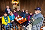 Eoin O Carra and some members of the Pop up Gaelteacht in Larkin's bar Milltown on Monday evening l-r: Bernadette Ní Riada, Bernard O Croinin, Bríd Ní Sheoigh,Maura Ni Laoire, Michael O Reaghallaigh, Risteard Clancy, Padraig O Suilleabhain, Rosemarie Healy,