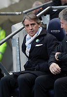 Barclays Premier League, Man City (blue) V Swansea City (white) Etihad Stadium, 27/10812<br /> Pictured: Manager of Man City Roberto Mancini<br /> Picture by: Ben Wyeth / Athena Picture Agency