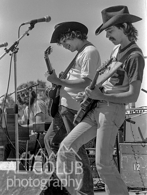 The first Mountain Aire Renaissance Faire and Music Festival featuring Dave Mason, Elvin Bishop, Livingston Taylor and Dan Hicks was presented by Rock'n Chair productions at the Calaveras County Fairgrounds, Angles Camp, California on June 15, 1974.  ( ON Stage Elvin Bishop )  Images by Al Golub/ Golub Photography