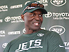Todd Bowles, New York Jets head coach, speaks with the media after a day of team training camp at Atlantic Health Jets Training Center in Florham Park, NJ on Friday, July 29, 2016.