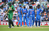 June 18th 2017, The Kia Oval, London, England;  ICC Champions Trophy Cricket Final; India versus Pakistan; Babar Azam of Pakistan is dismissed as India celebrate