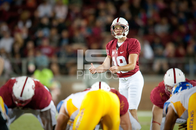 STANFORD, CA--AUGUST 31, 2012--Season-opening 20-17 Cardinal win over San Jose State University at Stanford Stadium.