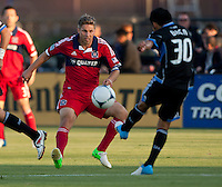 Santa Clara, California - Saturday July 28, 2012: Chicago Fire's Logan Pause in action during a game against San Jose Earthquakes at Buck Shaw Stadium, Stanford, Ca    San Jose Earthquakes and Chicago Fire tied 0 - 0
