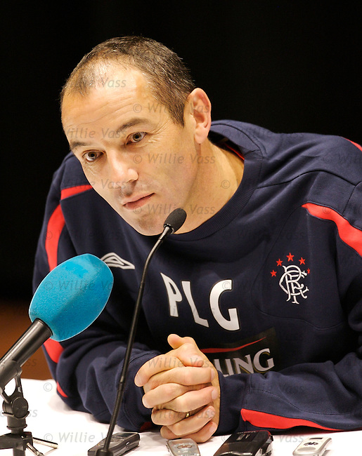 Paul Le Guen, Rangers.stock season 2006-2007.pic willie vass
