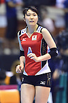 Kanako Hirai (JPN),<br /> AUGUST 18, 2013 - Volleyball :<br /> 2013 FIVB World Grand Prix, Preliminary Round Week 3 Pool M match Japan 3-2 Czech Republic at Sendai Gymnasium in Sendai, Miyagi, Japan. (Photo by Ryu Makino/AFLO)