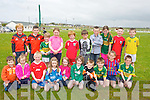 RELAY: Relaxing after they took part in teh 100yards relay race at the Ballyheigue Community Games at Ballyheigue GAA Grounds on Sunday Front l-r: Liam and Clodagh O'Carroll, Denis Lynch, Hannah Mai,Ellen and Seamus Lucy, Dylan Godley, Gearóid Harty, Mealine Higgins and Murish  Harty. Back l-r: Simon Corridon, Jordan Goggin, Will O'Sullivan, Aoibhe O'Halloran, Darragh Donnelly, Luke Bowler,Mike Murphy, Aisling Harty, Bobby Breen and David O'Sullivan.