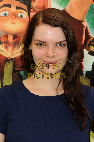 "Sianoa Smit-McPhee.""ParaNorman"" Los Angeles Premiere held at AMC CityWalk Stadium 19 Theatre, Universal City, California, USA..August 5th, 2012.headshot portrait blue piercing nose ring piercing .CAP/ADM/BP.©Byron Purvis/AdMedia/Capital Pictures."
