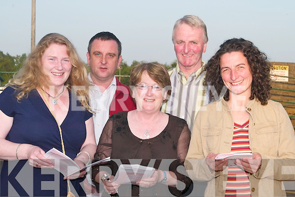 NIGHT: A night at the Dogs for Coiste Traili on Friday night at the Kingdom Greyhound Stadium, Tralee. L-R Helen Lawlor (Ardfert), Eoin Brassil (Tralee), Ann and Dan Wren (Tarbert) and Jane Dowling(Tralee)..