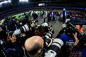 1st November 2017, Wembley Stadium, London, England; UEFA Champions League, Tottenham Hotspur versus Real Madrid; A mass of photographers photograph Tottenham Hotspur and Real Madrid walking out of the tunnel