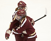 Alex Carpenter (BC - 5), Melissa Bizzari (BC - 4) - The Northeastern University Huskies defeated Boston College Eagles 4-3 to repeat as Beanpot champions on Tuesday, February 12, 2013, at Matthews Arena in Boston, Massachusetts.