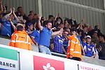Goal celebration by Portsmouth fans. Sunderland 2 Portsmouth 1, 17/08/2019. Stadium of Light, League One. Photo by Paul Thompson.