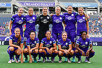 Orlando, FL - Saturday September 24, 2016: Orlando Starting XI prior to a regular season National Women's Soccer League (NWSL) match between the Orlando Pride and FC Kansas City at Camping World Stadium.