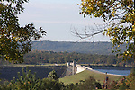 Table Rock Dam holding back Table Rock Lake in Branson Missouri supplying hydro power to the city and surround areas
