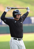 August 13, 2009: Outfielder Justin Jacobs (21) of the Greensboro Grasshoppers, Class A affiliate of the Florida Marlins, in a game at Fluor Field at the West End in Greenville, S.C. Photo by: Tom Priddy/Four Seam Images
