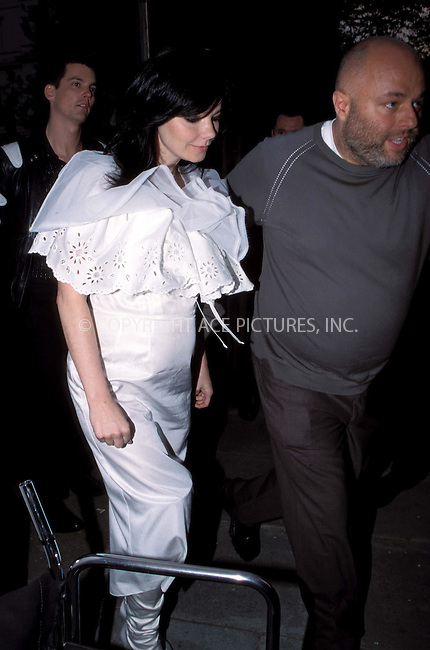 *** USA RIGHTS ONLY***    ..Pregnant Bjork attends Becks Futures 3 Awards at Institute of Contempary Arts in London. May 7, 2002. REF: AH/PPSA2059. Please byline: NY Photo Press.   ..*PAY-PER-USE*      ....NY Photo Press:  ..phone (646) 267-6913;   ..e-mail: info@nyphotopress.com
