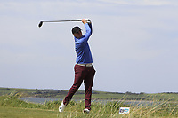 Eoin Murphy (Dundalk) on the 10th tee during the Flogas Irish Amateur Open Championship 2019 at the Co.Sligo Golf Club, Rosses Point, Sligo, Ireland. 15/05/19<br /> <br /> Picture: Thos Caffrey / Golffile<br /> <br /> All photos usage must carry mandatory copyright credit (© Golffile | Thos Caffrey)