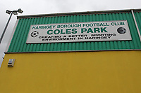 Coles Park home of Haringey Borough during Haringey Borough vs Heybridge Swifts, Emirates FA Cup Football at Coles Park Stadium on 14th October 2017