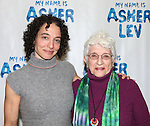Naama Potok and Adena Potok  attends the Meet & Greet for the new Off-Broadway Play 'My Name Is Asher Lev'  at the Davenport Studios on 10/22/2012 in New York City.