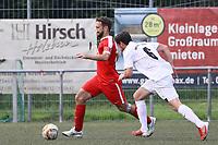 Robin Frisch (Biebesheim) gegen Lukas Dilling (Büttelborn) - Büttelborn 27.08.2017: SKV Büttelborn vs. SV Olympia Biebesheim