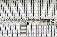 Solitary spectator watches the cricket during Nottinghamshire CCC vs Essex CCC, Specsavers County Championship Division 1 Cricket at Trent Bridge on 11th September 2018