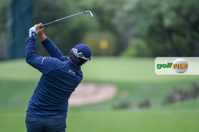 Byeong Hun An (KOR) watches his tee shot on 13 during day 4 of the Valero Texas Open, at the TPC San Antonio Oaks Course, San Antonio, Texas, USA. 4/7/2019.<br /> Picture: Golffile | Ken Murray<br /> <br /> <br /> All photo usage must carry mandatory copyright credit (© Golffile | Ken Murray)