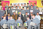 CERTIFICATES: Transition students fromn the Green CBS who were presented with special awards on Thursday evening at their school by special guest Dara O Cinneide..