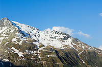 Switzerland, Canton Valais, view at Furka Pass Road