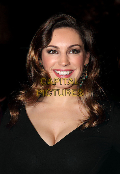 Kelly Brook.The British Fashion Awards 2012, Savoy Hotel, The Strand, London, England..November 27th, 2012.headshot portrait black cleavage .CAP/ROS.©Steve Ross/Capital Pictures