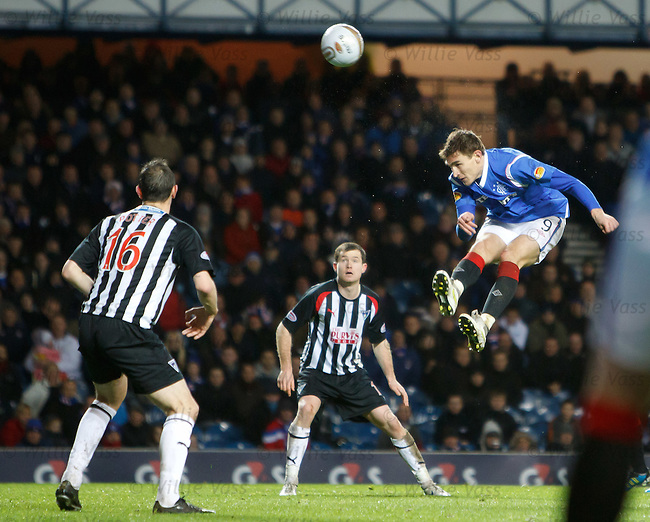Nikica Jelavic heads over the bar