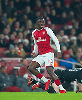 Aesenal's Josh Dasilva during the Carabao Cup QF match between Arsenal and West Ham United at the Emirates Stadium, London, England on 19 December 2017. Photo by Andrew Aleksiejczuk / PRiME Media Images.