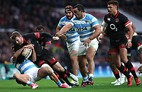 England's Elliot Daly is tackled by Argentina's Martin Landajo<br /> <br /> Photographer Rachel Holborn/CameraSport<br /> <br /> International Rugby Union Friendly - Old Mutual Wealth Series Autumn Internationals 2017 - England v Argentina - Saturday 11th November 2017 - Twickenham Stadium - London<br /> <br /> World Copyright &copy; 2017 CameraSport. All rights reserved. 43 Linden Ave. Countesthorpe. Leicester. England. LE8 5PG - Tel: +44 (0) 116 277 4147 - admin@camerasport.com - www.camerasport.com